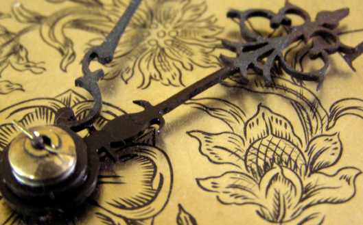 Victorian style clock hand